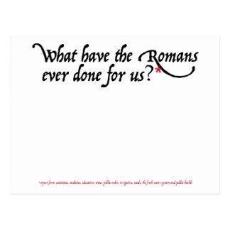 Qué tienen los romanos hechos nunca para nosotros tarjetas postales