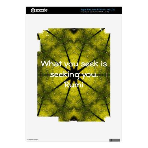 Qué usted busca la cita de la atracción de la sabi iPad 3 pegatinas skins