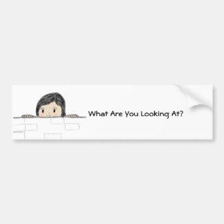 ¿Qué usted está mirando? Etiqueta De Parachoque