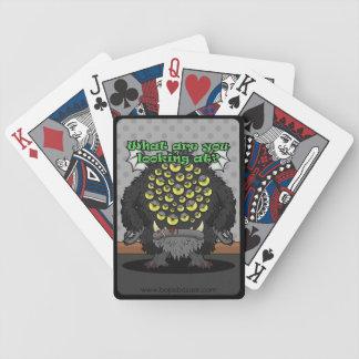 ¿Qué usted está mirando? (Monstruo negro) Baraja Cartas De Poker