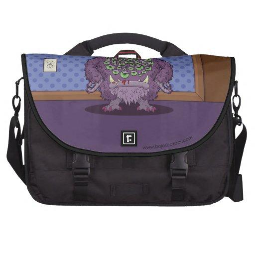 ¿Qué usted está mirando? (Monstruo púrpura) Bolsa Para Ordenador