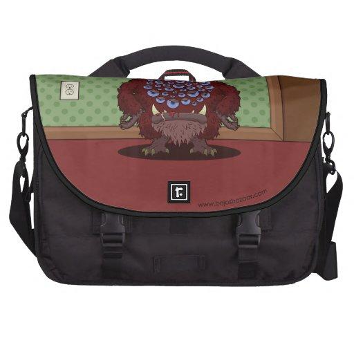 ¿Qué usted está mirando? (Monstruo rojo) Bolsas De Portatil