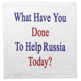 ¿Qué usted ha hecho para ayudar a Rusia hoy? Servilletas