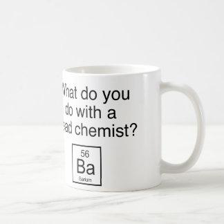 ¿Qué usted hace con un químico muerto? Bario Taza
