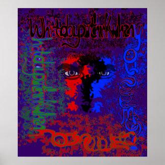 ¿Qué usted piensa cuando usted me ve? Impresión Poster