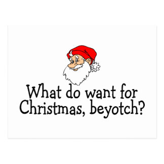 Qué usted quieren para el navidad Beyotch Postal