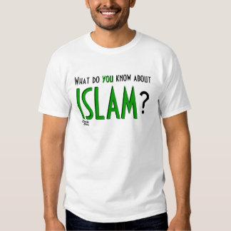 ¿Qué usted sabe sobre ISLAM? Playeras