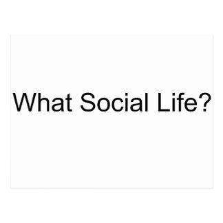 ¿Qué vida social? Postal