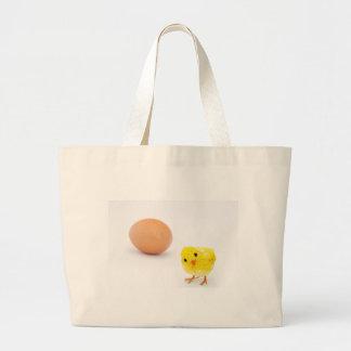 ¿qué vino primero el pollo o el huevo? bolsas lienzo