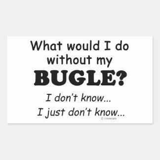 Qué yo haga, bugle pegatina rectangular