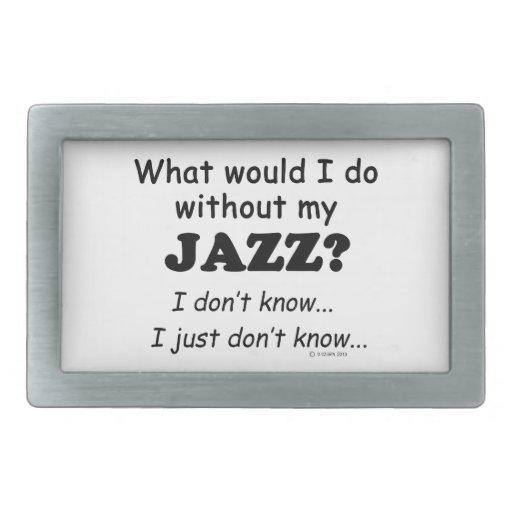Qué yo haga, jazz hebillas de cinturon rectangulares