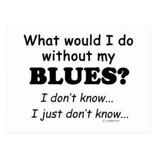 Qué yo haga, los azules tarjeta postal