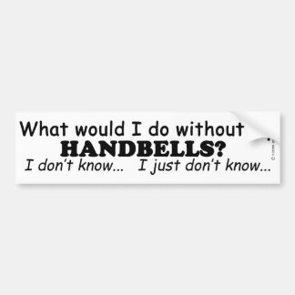 Qué yo haga, los Handbells Pegatina Para Auto
