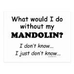 Qué yo haga, mandolina tarjeta postal