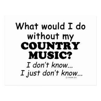 Qué yo haga, música country tarjetas postales