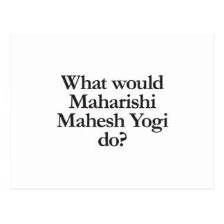 qué yogui del mahesh del maharishi haría postal