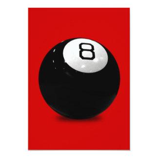 QUEBALL POOL GAME SPORTS FUN ICON LOGO BLACK WHIT PERSONALIZED INVITES