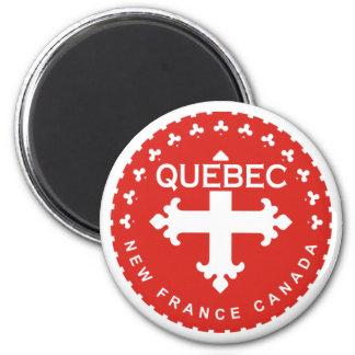 Québec 2 Inch Round Magnet
