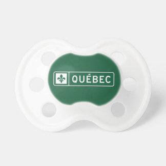 Quebec (2), señal de tráfico, Canadá Chupetes De Bebe