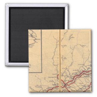 Quebec 4 2 inch square magnet