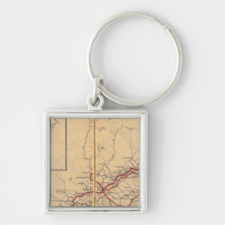 Quebec 4 Silver-Colored square keychain