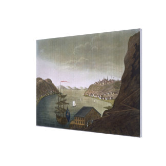 Quebec and the St. Lawrence River, plate 4 from 'L Canvas Print