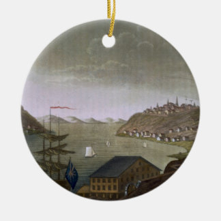 Quebec and the St. Lawrence River, plate 4 from 'L Ceramic Ornament