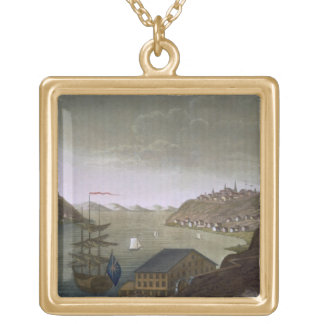 Quebec and the St. Lawrence River, plate 4 from 'L Gold Plated Necklace