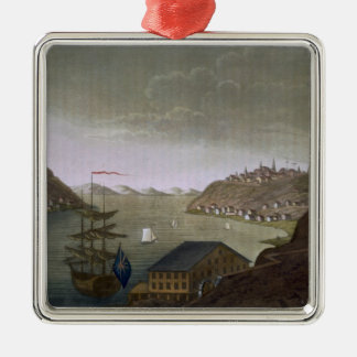 Quebec and the St. Lawrence River, plate 4 from 'L Metal Ornament