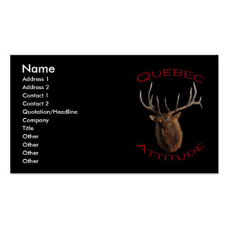 Quebec Attitude Business Card Templates