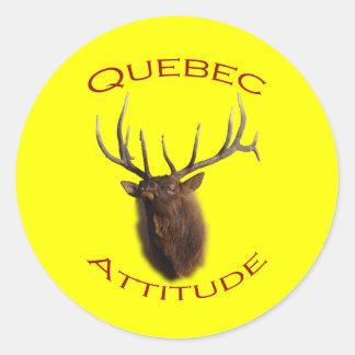 Quebec Attitude Classic Round Sticker