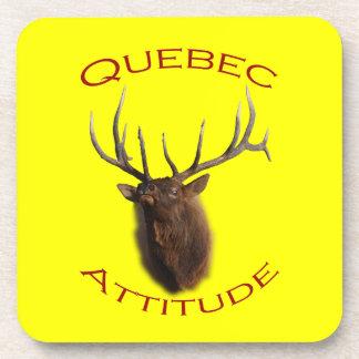 Quebec Attitude Drink Coaster