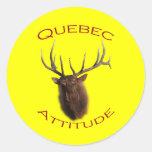 Quebec Attitude Round Sticker