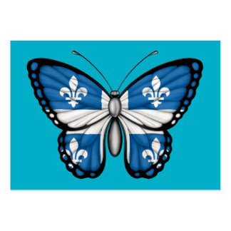 Quebec Butterfly Flag Business Card Template