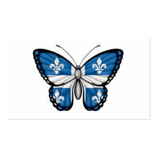Quebec Butterfly Flag Business Card Templates