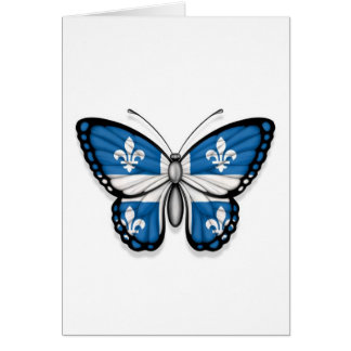 Quebec Butterfly Flag Card