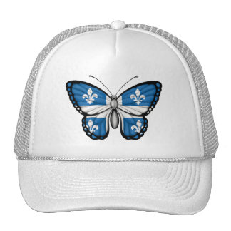 Quebec Butterfly Flag Hats