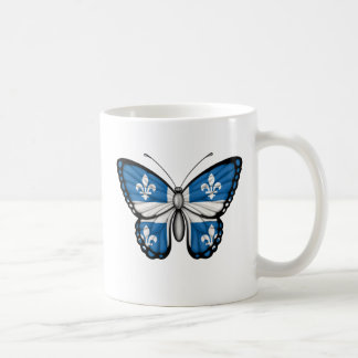 Quebec Butterfly Flag Coffee Mugs