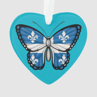 Quebec Butterfly Flag Ornament