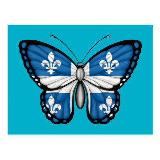 Quebec Butterfly Flag Postcard