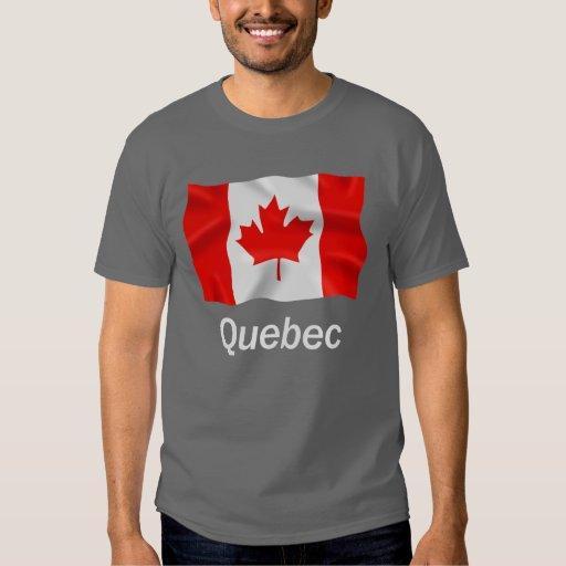 Quebec - camiseta oscura básica playeras