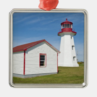 Quebec, Canada. Cap D'Espoir Lighthouse. Metal Ornament