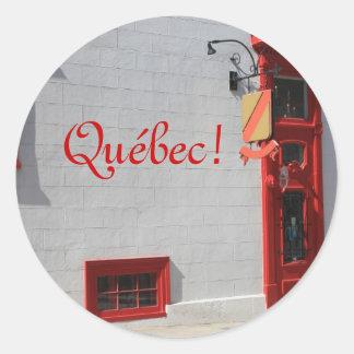 Quebec, Canada Classic Round Sticker