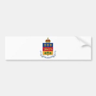 Quebec (Canada) Coat of Arms Car Bumper Sticker