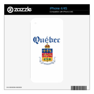Quebec Canada coat of arms design Skin For iPhone 4S