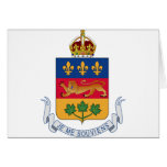 Quebec (Canada) Coat of Arms Greeting Cards