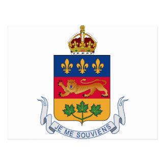 Quebec (Canada) Coat of Arms Postcard