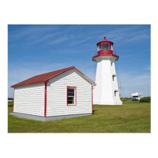 Quebec, Canadá. Faro de D'Espoir del casquillo Tarjetas Postales