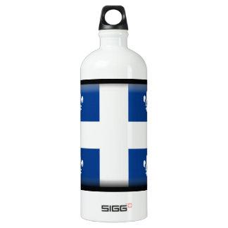 Quebec (Canada) Flag Aluminum Water Bottle