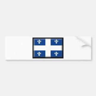 Quebec (Canada) Flag Car Bumper Sticker